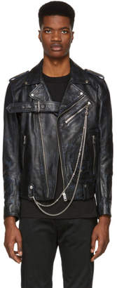 Diesel Black Leather L-Kio Jacket
