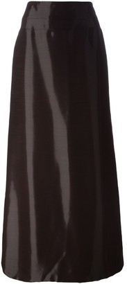 Jean Louis Scherrer Pre-Owned high-shine long skirt