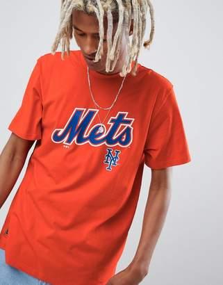 New Era MLB New York Mets Oversized T-Shirt With Chest Logo In Orange