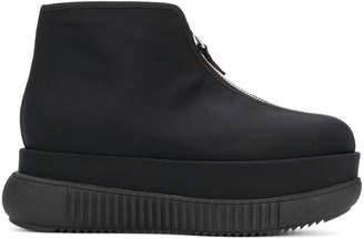Marni zip-up flatform ankle boots