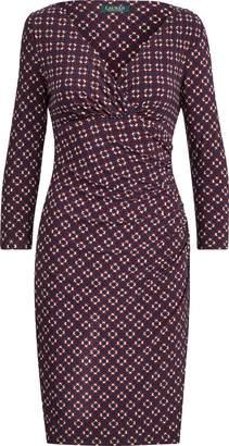 Ralph Lauren Print Surplice Jersey Dress