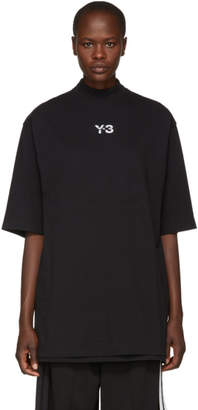 Y-3 Black Long Signature T-Shirt