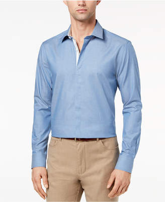 Ryan Seacrest Distinction Men's Slim-Fit Chambray Shirt, Created for Macy's