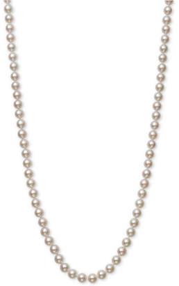 "Belle de Mer Cultured Akoya Pearl (6-6-1/2mm) 20"" Strand Necklace in 14k Gold"