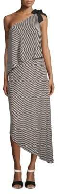 Halston Mini Stripe Flowy Dress