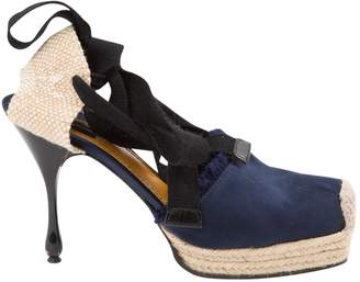 Marc Jacobs Navy Cloth Espadrilles