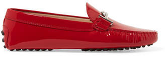 Tod's Gommino Embellished Patent-leather Loafers - Red