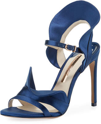 Sophia Webster Lucia Ruffle Satin Sandals