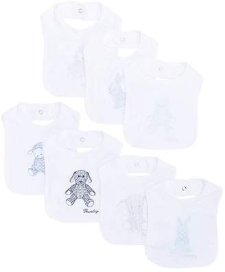 Ralph Lauren set of seven bibs