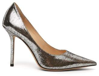 Jimmy Choo Love 85 Lame Pumps - Womens - Silver