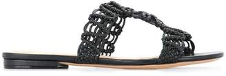 Alexandre Birman macramé flat sandals