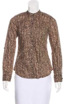 MICHAEL Michael Kors Long Sleeve Button-Up Top