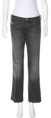 Diesel Mid-Rise Wide-Leg Jeans