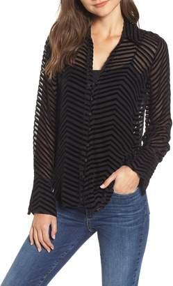 Paige Toscani Velvet Stripe Blouse