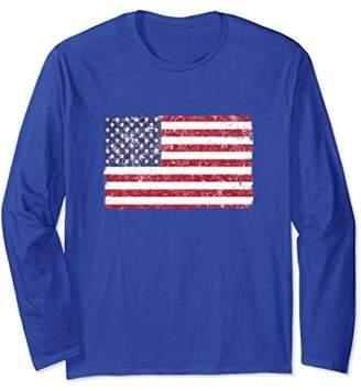 Distressed American Flag T Shirt - Patriotic USA Shirt