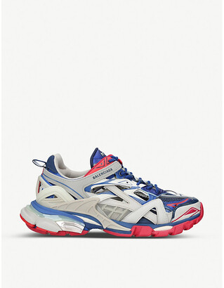 Balenciaga Track 2.0 leather and mesh trainers