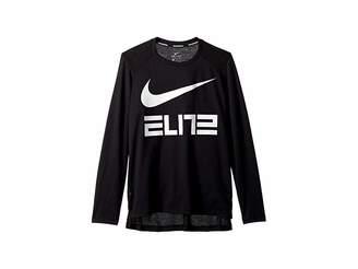 325bd9f3f3bd Nike Dry Elite Basketball Long Sleeve Top (Little Kids Big Kids)