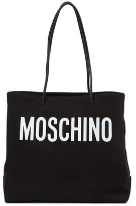 Moschino Brand Logo Canvas Tote Bag