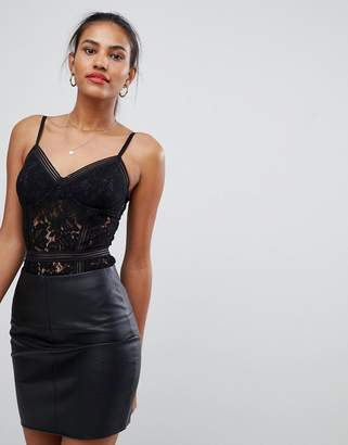 Missguided Lace Cami Strap Body