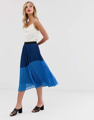 49dc755a97 Vero Moda pleated colour block skirt