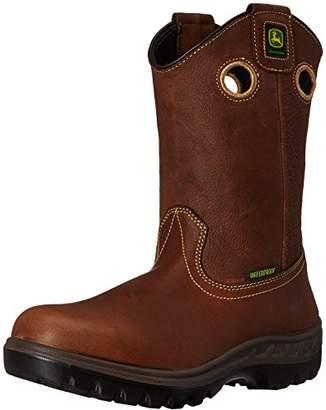 """John Deere Men's JD4602 11"""" Waterproof Pull-On Steel Toe Boot"""