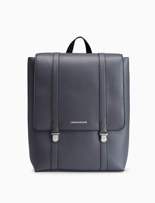 Calvin Klein smooth essentials logo flap backpack