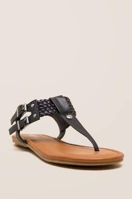 Mia Martha Basic T-Strap Sandal - Black