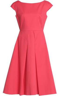 Milly Pleated Cotton And Silk-Blend Crepe Dress
