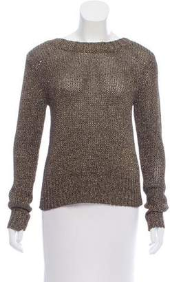 A.L.C. Metallic Lace-Up Sweater