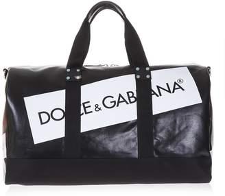 Dolce & Gabbana Black Duffle Bag With Logo
