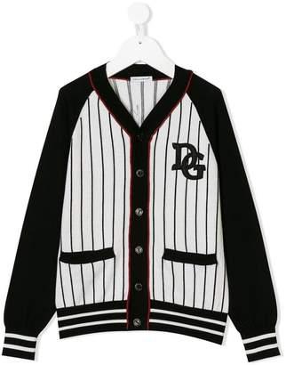 Dolce & Gabbana baseball-style striped cardigan