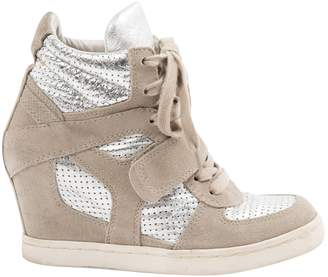 Ash Beige Suede Trainers