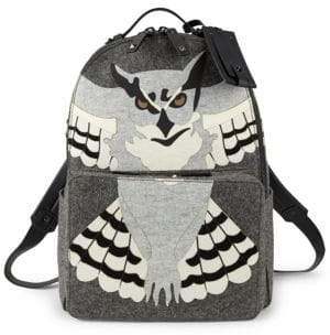 Valentino Owl Print Backpack