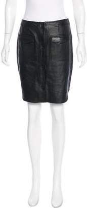 Opening Ceremony Knee-Length Leather Skirt w/ Tags