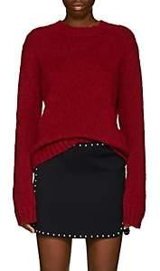 Helmut Lang Women's Brushed Wool-Blend Crewneck Sweater - Bt. Red