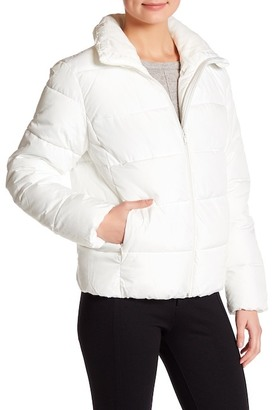 Joe Fresh Funnel Neck Puffer Jacket $39 thestylecure.com