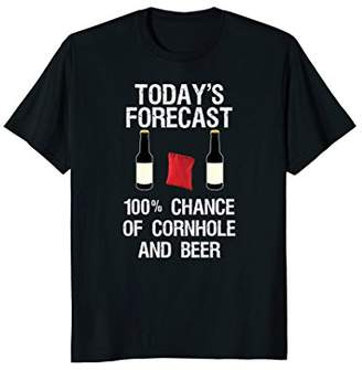 Cornhole and Beer Funny Today's Forecast T-Shirt