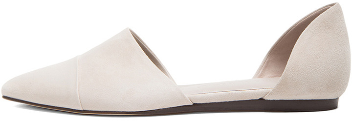 Jenni Kayne D'Orsay Suede Flats in Oyster