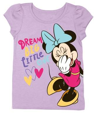 """Minnie Mouse """"Dream Big Little One"""" Short Sleeve Graphic Tshirt (Toddler Girls)"""