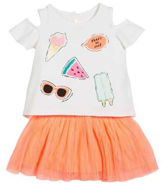 Kate Spade So Cool Cold-Should Tee W/ Tulle Skirt, Size 12-24 Months