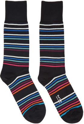 Paul Smith Black Mondo Multo Socks $30 thestylecure.com