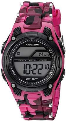 Armitron Sport Women's 45/6984CPK Digital Chronograph Camouflage Resin Strap Watch