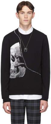 Alexander McQueen Black Knit Skull Sweater