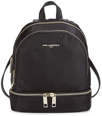 Karl Lagerfeld Paris Women's Classic Zippered Backpack