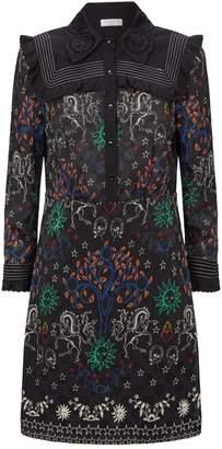 Sandro Lace Collar Dress