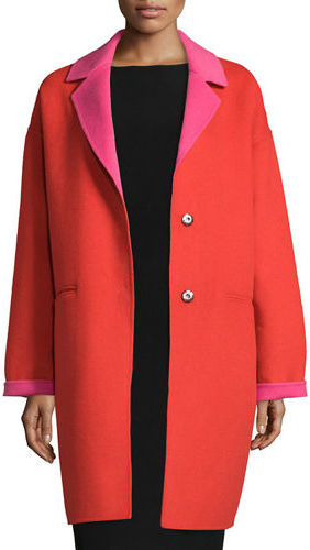Kate Spade Kate Spade New York Double-Face Wool-Blend Cocoon Coat