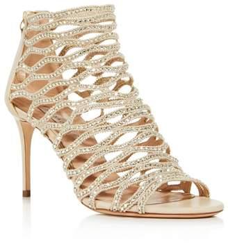 3b3bea5ac Casadei Women s Cleopatra Swarovski Crystal Embellished High-Heel Cage  Sandals