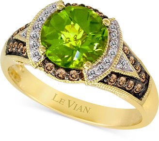 Le Vian Chocolatier Peridot (1-3/4 ct. t.w.) and Diamond (1/5 ct. t.w.) Ring in 14k Gold $2,831 thestylecure.com