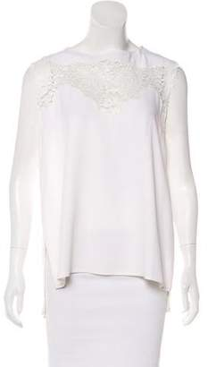 Thakoon Lace-Trimmed Sleeveless Top