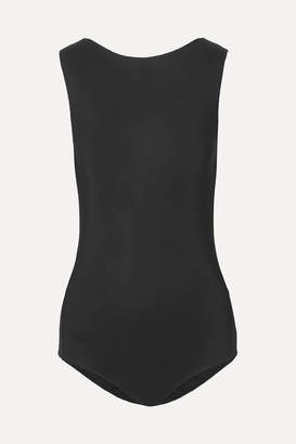 Maison Margiela Backless Stretch-jersey Bodysuit - Black